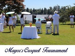 Mayor's Croquet Tournament July 20th at Harken Towing Co Ltd