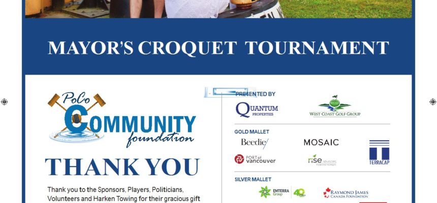 2017 Mayors Croquet Event a HUGE Success!