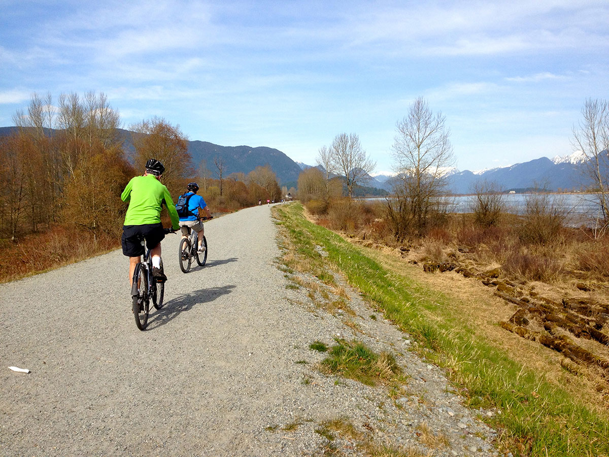 Trail-Pitt-River-dike-cyclists-L-IMG_0293